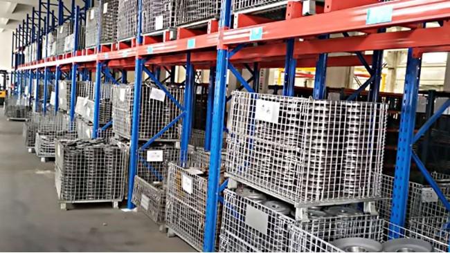 货架仓储笼:高位货架专用的仓储笼周转箱