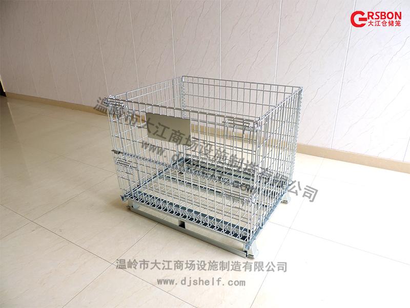 镀锌仓储笼焊角铁-大江仓储笼