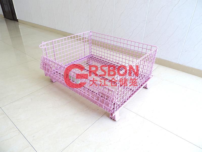 喷塑仓储笼-粉色-大江仓储笼