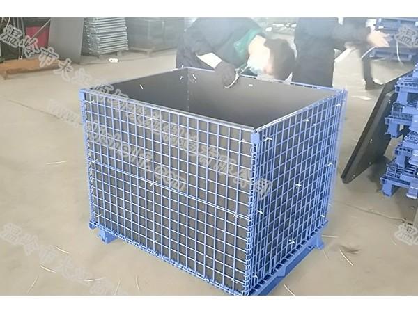 中空板喷塑角铁仓储笼