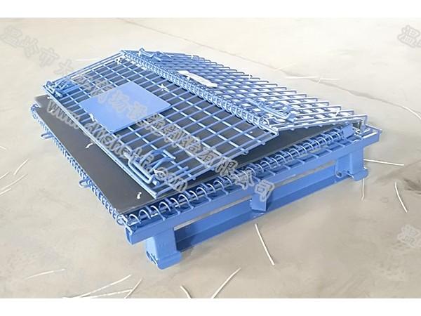 中空板喷塑角铁仓储笼折叠