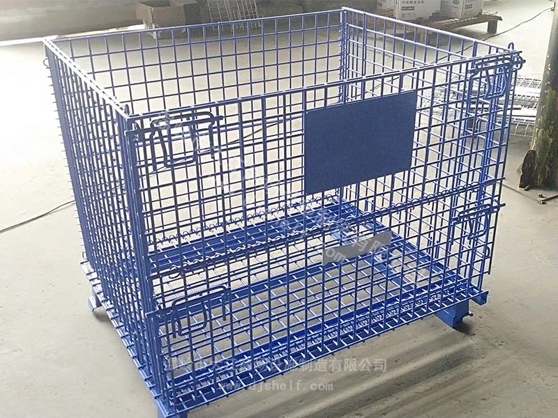 蓝色喷塑带角铁仓储笼9