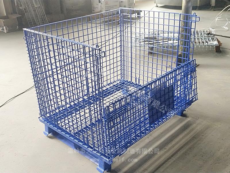 蓝色喷塑带角铁仓储笼7