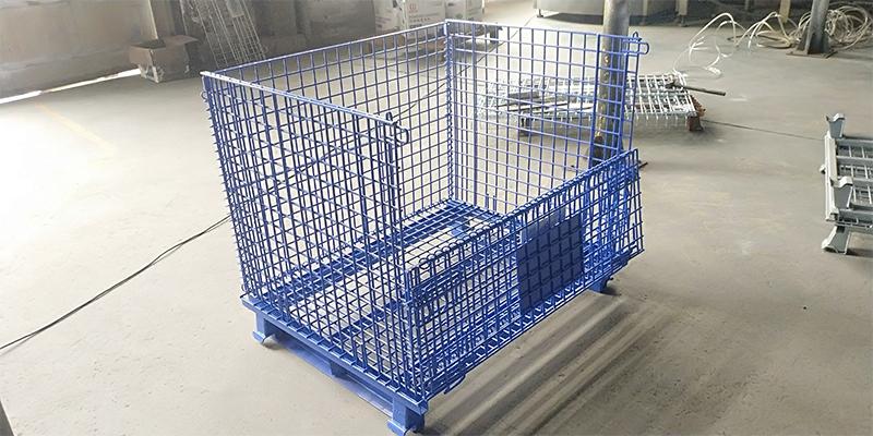 喷塑角铁仓储笼