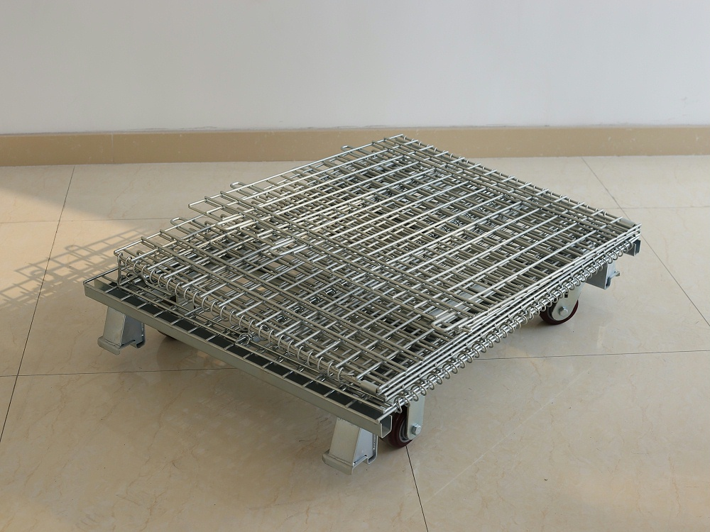 带轮仓储笼-折叠