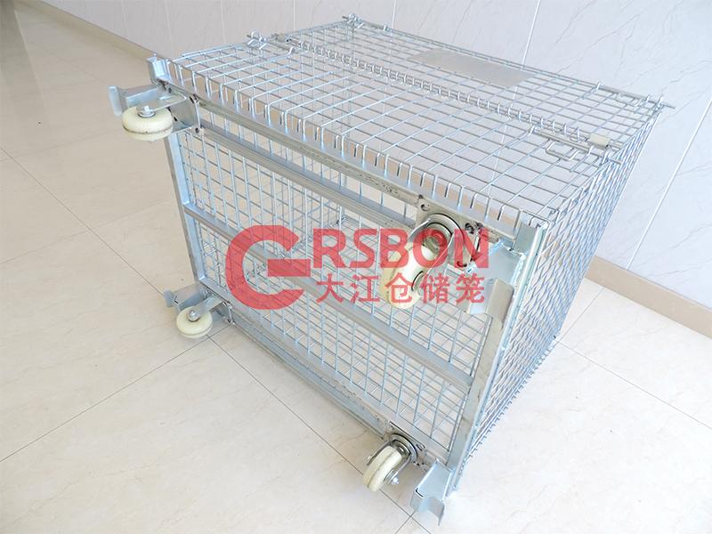 带轮仓储笼-焊脚轮-大江仓储笼