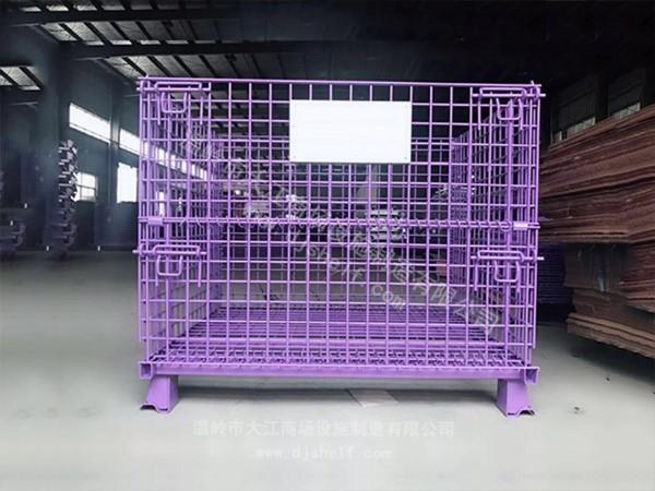喷塑仓储笼_紫色