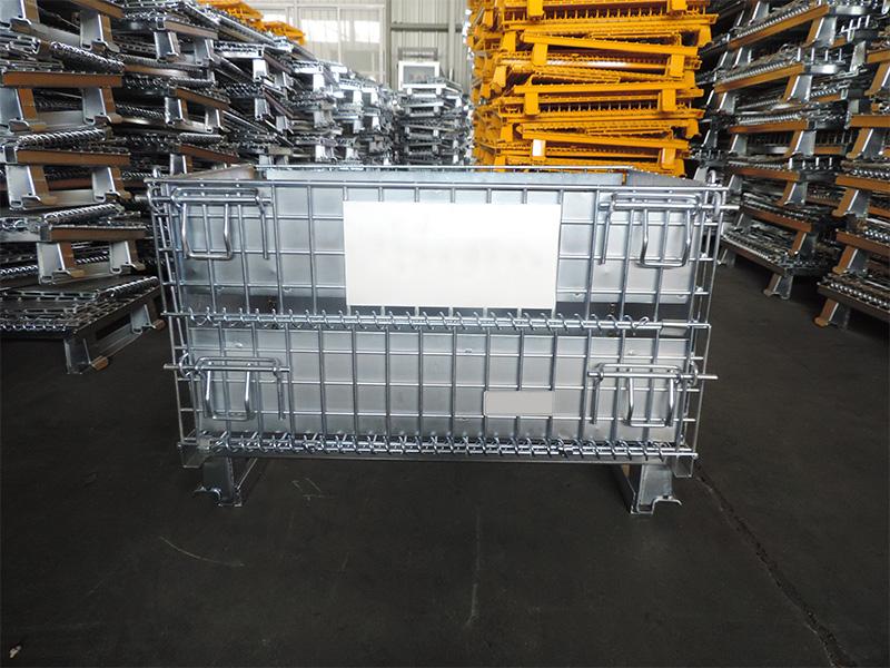 角铁焊铁板仓储笼