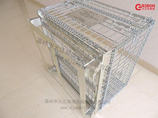 流水线用焊扁铁仓储笼 双开门仓储笼出口日本-大江仓储笼
