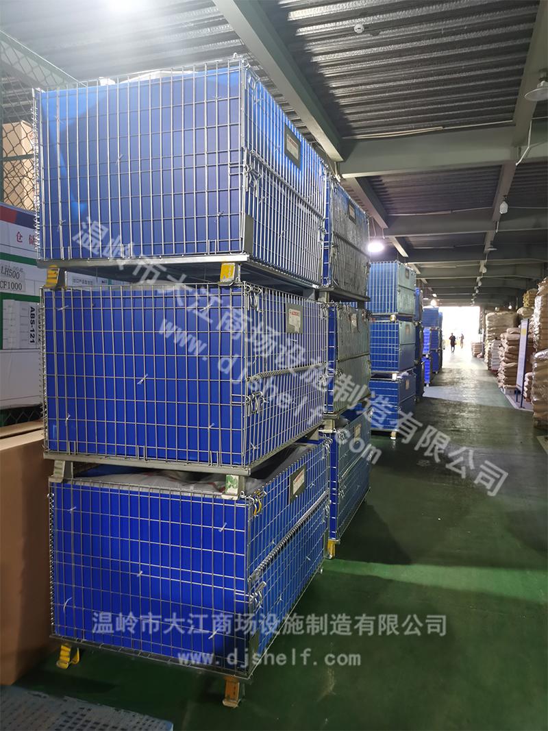 彩锌中空板仓储笼应用-大江仓储笼
