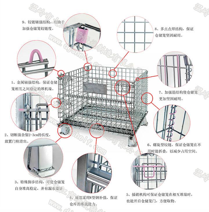 折叠仓储笼的产品细节-大江仓储笼