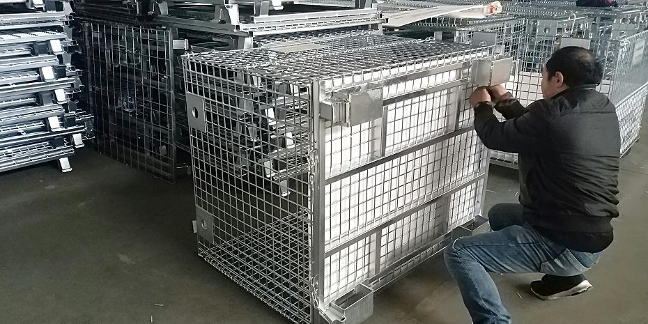 日本吊笼底部-非标仓储笼